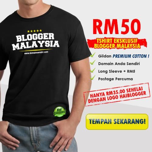 Diskaun RM15 T-Shirt Eksklusif Blogger Malaysia