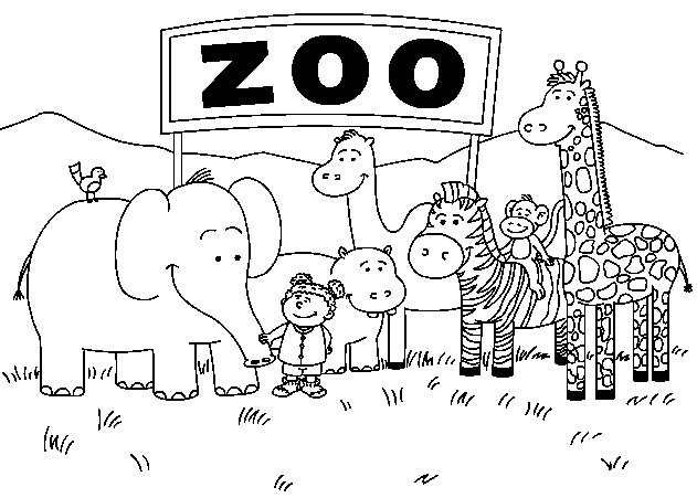 free zoo animal coloring pages - Animal Coloring Pages For Preschoolers