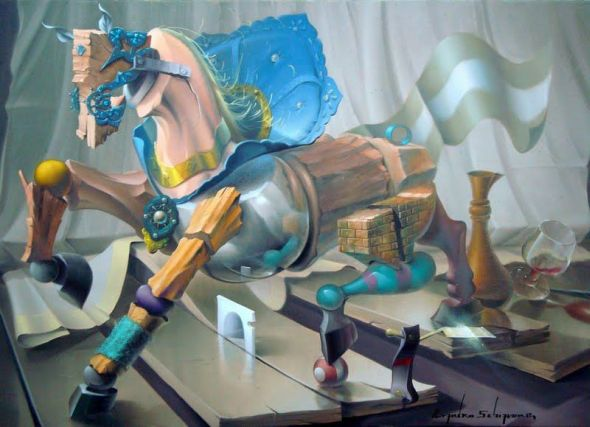 Evandro Schiavone beautiful surreal paintings surrealism dreams