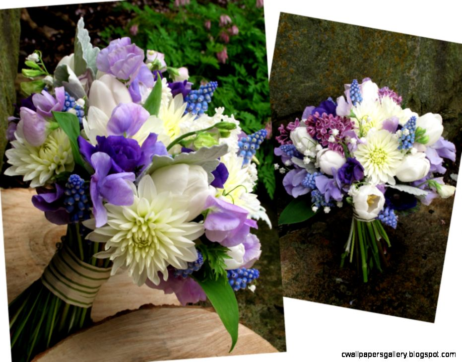 Purple And White Wedding Flower Bouquets  Bouquet Idea