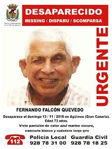 Desaparecido en Agüimes