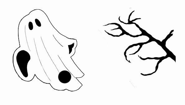 patrones tarjeta pop up halloween