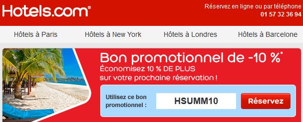 Code promo hotels.com