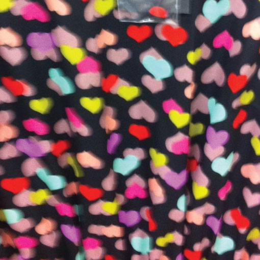 multi colour heart print