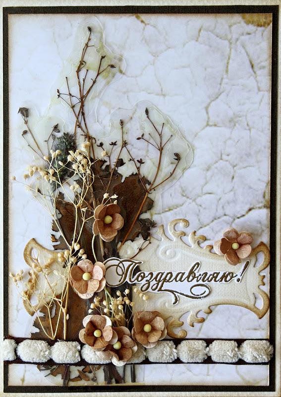 Открытки с сухими цветами 7