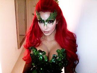 Kim Kardashian Poison Ivy Halloween 2011 Costume