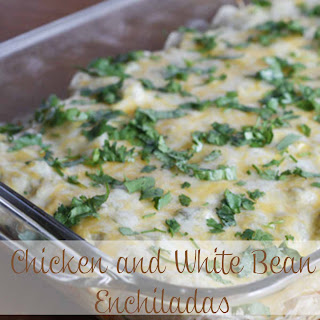 Chicken with White Bean Enchiladas