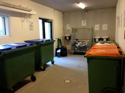 recycling room and trash collection