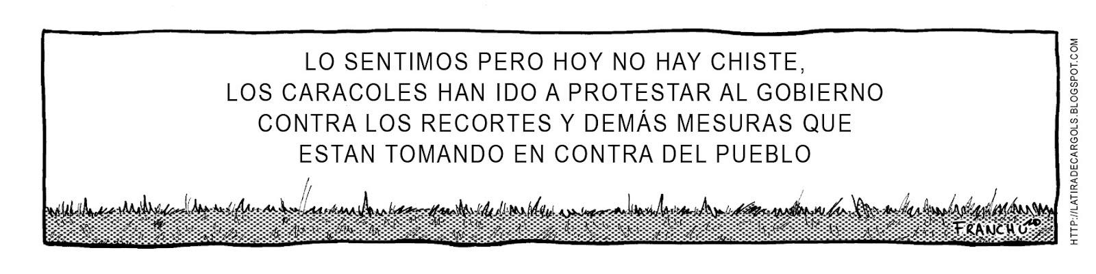 Tira comica 136 del webcomic Cargols del dibujante Franchu de Barcelona
