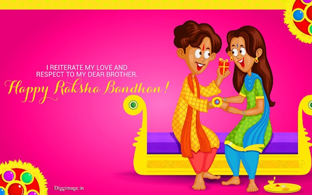 Happy Raksha Bandhan To You. I am waiting to tie a Rakhi in your wrist...