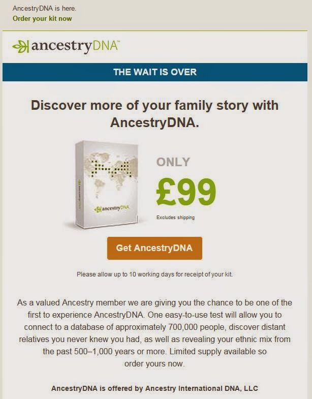 ancestrydna have a readymade market in the uk and ireland with around subscribers and their test is probably going to introduce many new people to