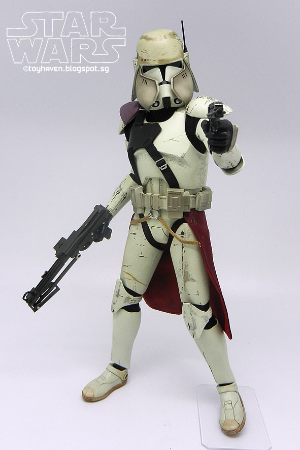 sideshow collectibles star wars 16 clone commander bacara
