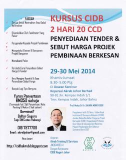 Kursus 2 Hari 20 CCD 29-30 Mei 2014 Terkini