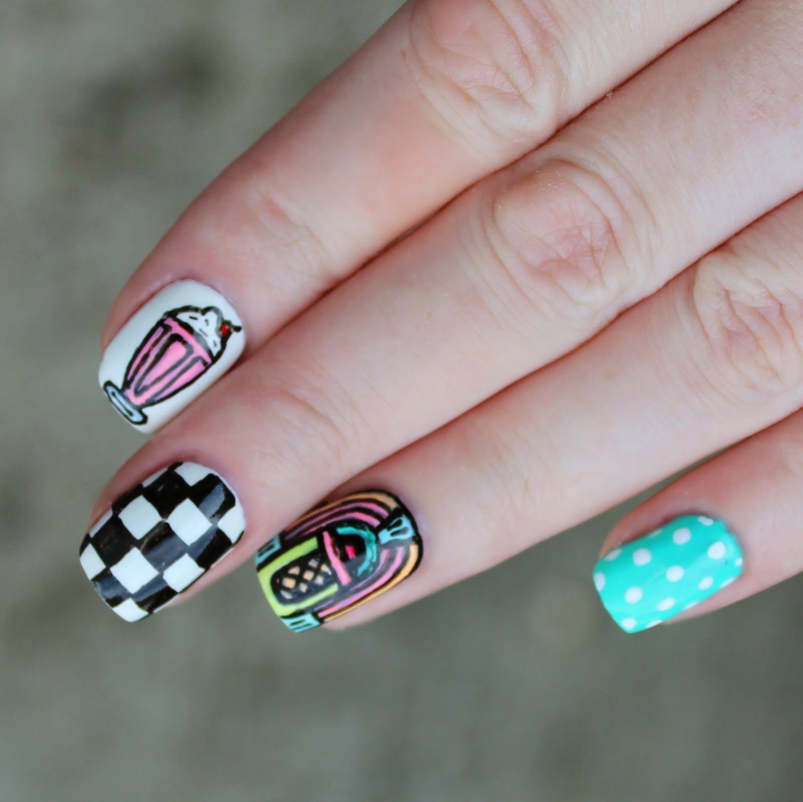 Grease Nail Art