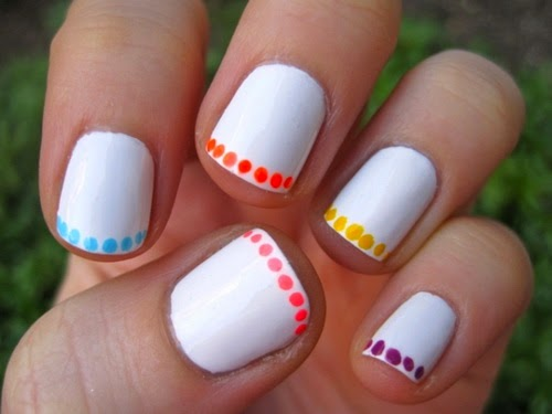 Polka Dot French Manicure Nails