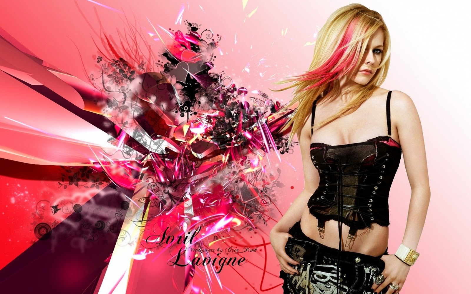 Avril Lavigne Widescreen HQ Wallpaper 12456