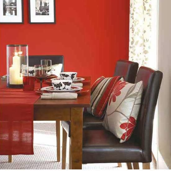 Elegant If Your Room Is Small Or Dark, Use It Subtly. It Might Be More Effective To  Paint Or Paper One Wall Red, Or Hang A Red Based Painting.