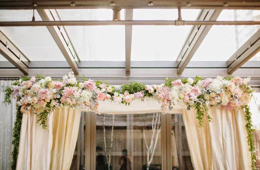 blush wedding flowers, blush roses, blush flowers, wedding ceremony decor, Flora Nova Design Seattle