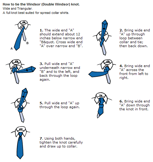 Ias niti interview how to tie a tie the windsor knot will make your necktie shorter if you are tall you may also want to try the half windsor or four in hand knot ccuart Gallery