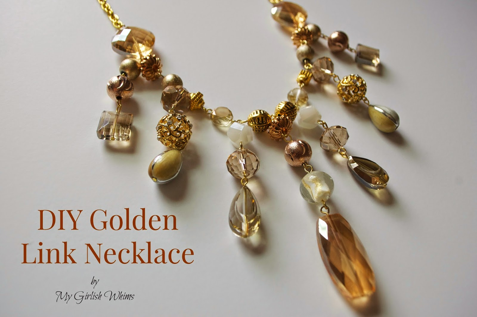DIY Golden Link Necklace with Jesse James Beads - My Girlish Whims