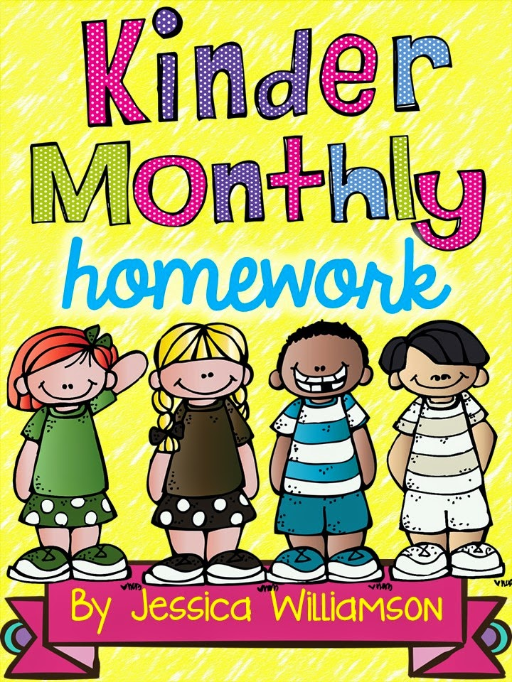 http://www.teacherspayteachers.com/Product/Kindergarten-monthly-homework-1383002