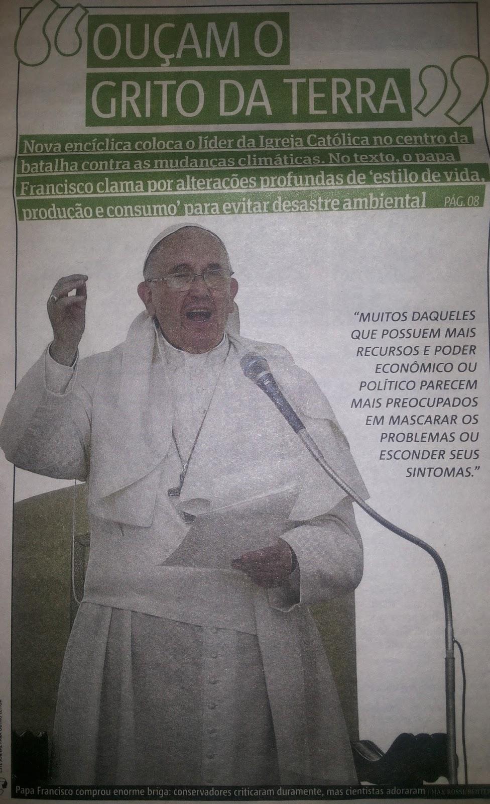 CLAMOR DO PAPA PELA NATUREZA