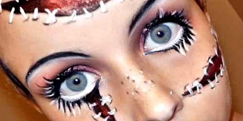 maquillaje ojos halloween bonito