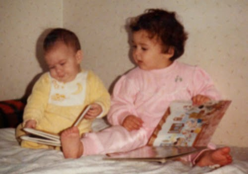 Photo of Diana Toledano and her sister when they were little.