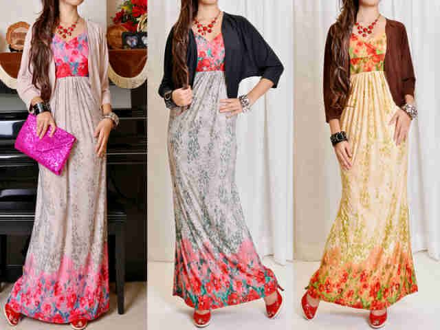 Maxi Dress Korea + Cardi