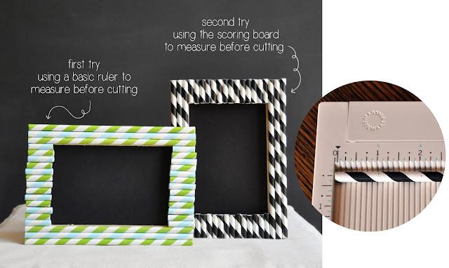 Creative Bag blog post on making paper straw frames