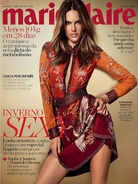 Supermodel, Actress @ Alessandra Ambrosio for Marie Claire Brazil, June 2015