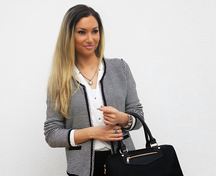 look do dia, outfit, ootd, look of the day, black and white, evento tous, tendências, outono inverno 2014 2015, casaco primark, calvin klein watch, pimkie, zara, accessorize, style statement, blog de moda portugal, blogues de moda portugueses, back to the origins, happiness by tous, tous jewelry, tous bags, carteiras tous