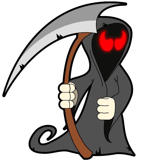 Muerte con su guadaña (cartoon Halloween)