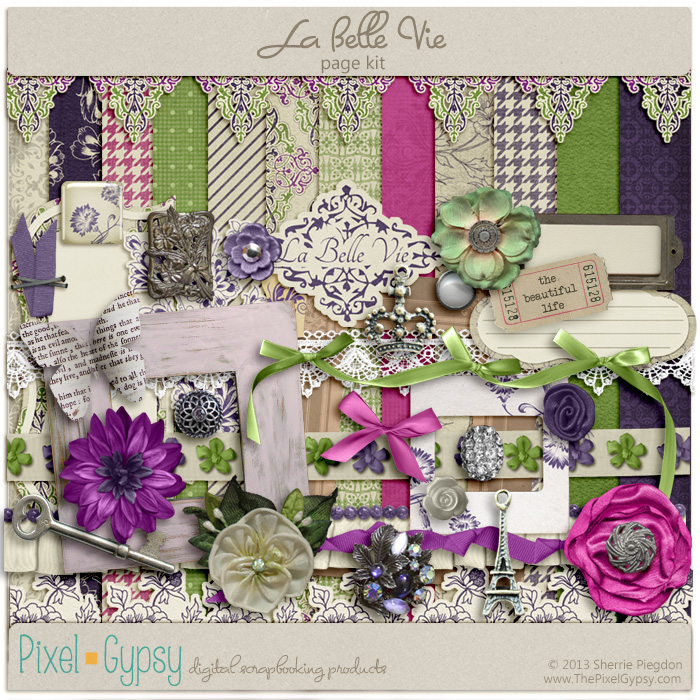 La Belle Vie Digital Scrapbooking Page Kit