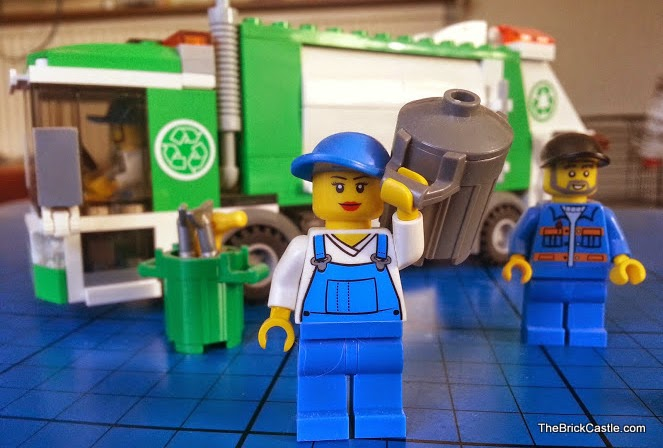 Female LEGO Refuse Collector in set 4432 released in 2012
