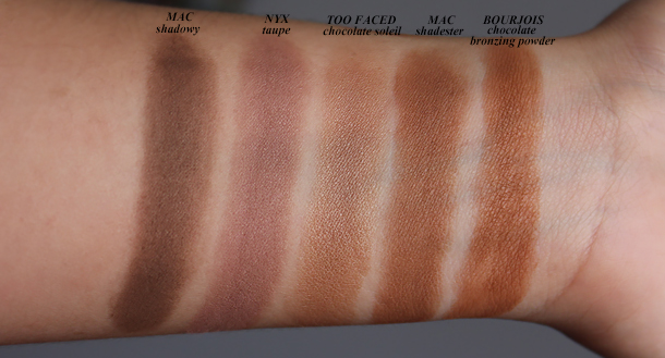 nyx taupe blush review comparison swatch