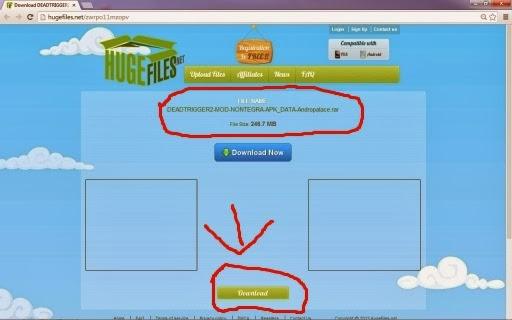 Cara Download Di HugeFiles.Net