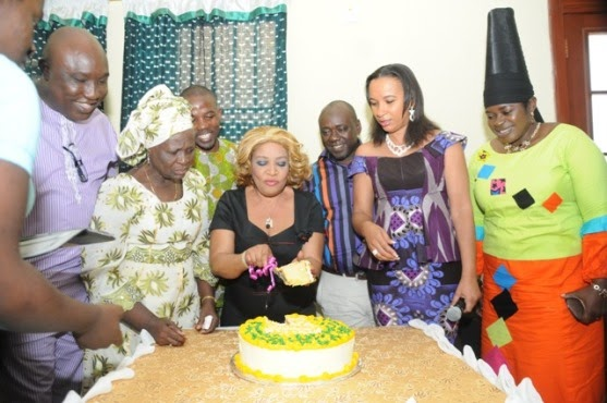 Ngozi Nwosu Getting Stronger, Celebrates 50th Birthday with Nollywood Acts chiomaandy.com