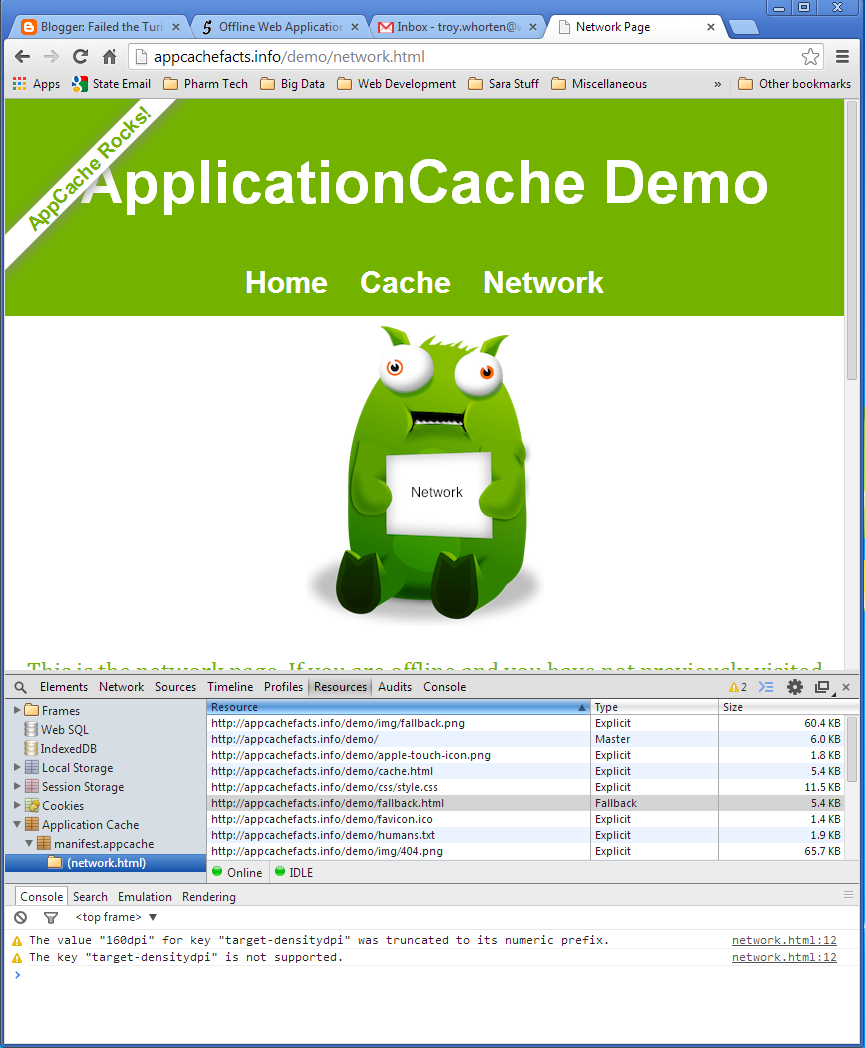 how to create a cache manifest file