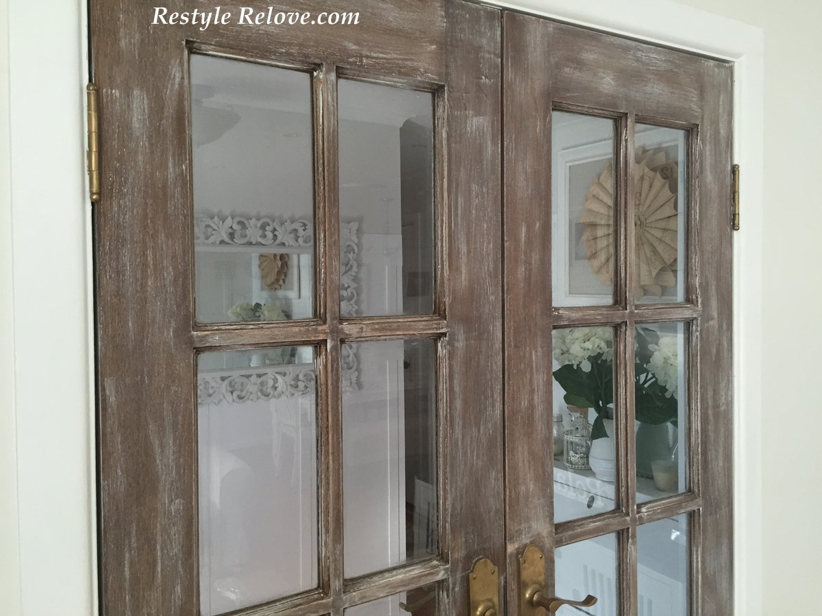farmhouse weathered french doors tweaked