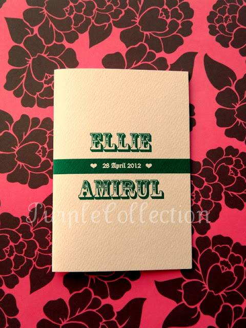 Simple Vintage, Purple, Simple, Pink, Vintage, Wedding Invitation Cards, Ellie & Amirul, Ellie, Amirul