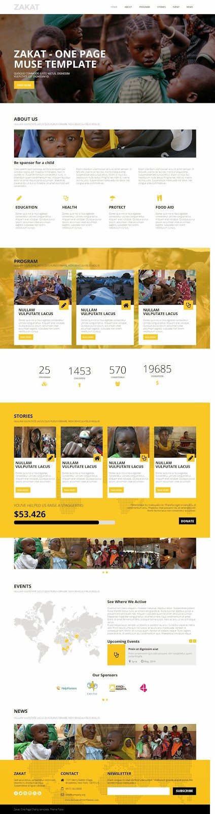 One Page Charity Template 2015
