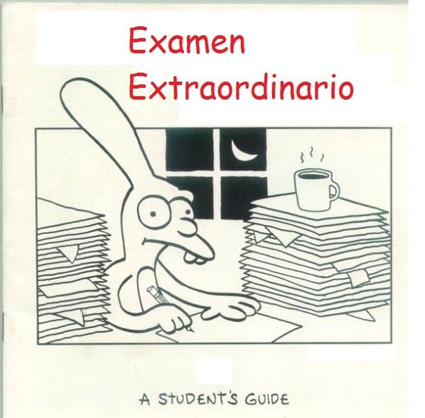 Resultado de imagen de EXAMENES EXTRAORDINARIOS