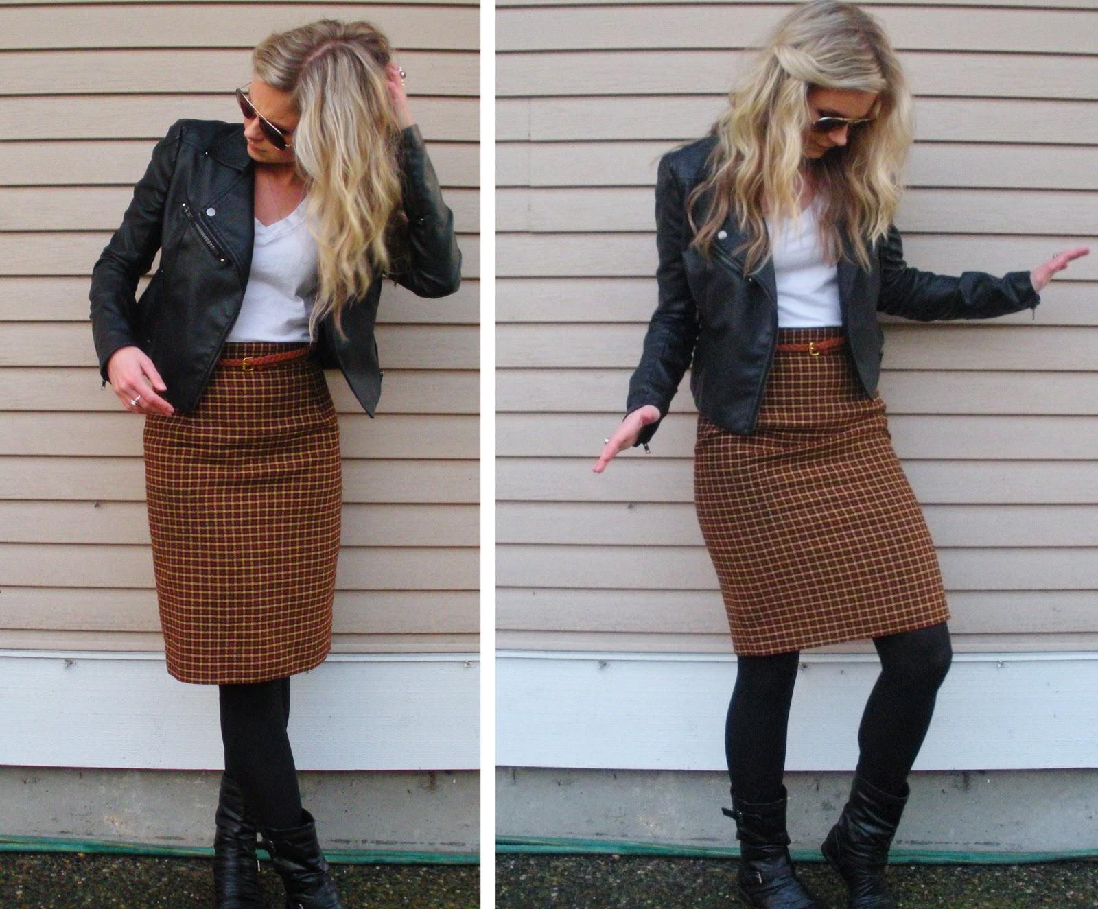 Casual Pencil Skirt 42
