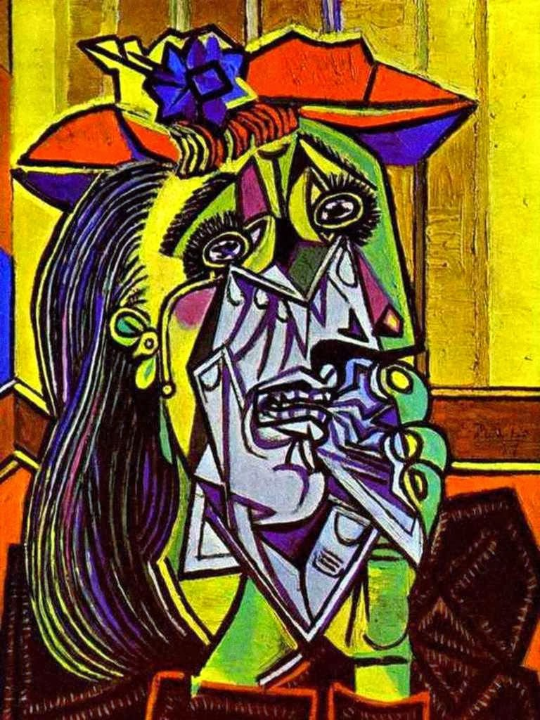 historic art pablo picasso weeping woman. Black Bedroom Furniture Sets. Home Design Ideas