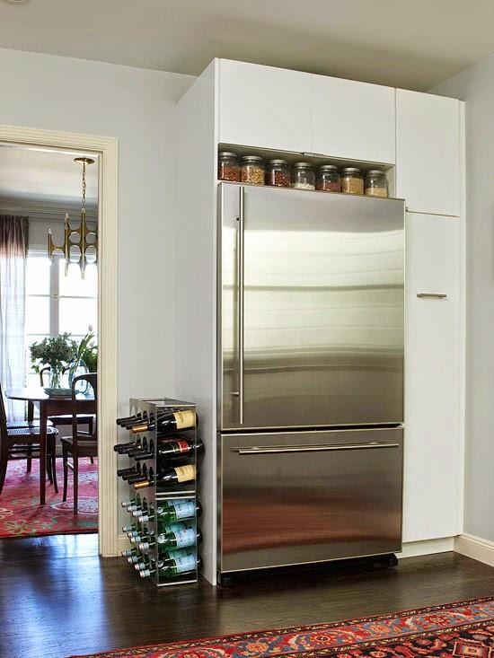 maximize storage above refrigerator