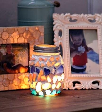 hand decorated mason jar