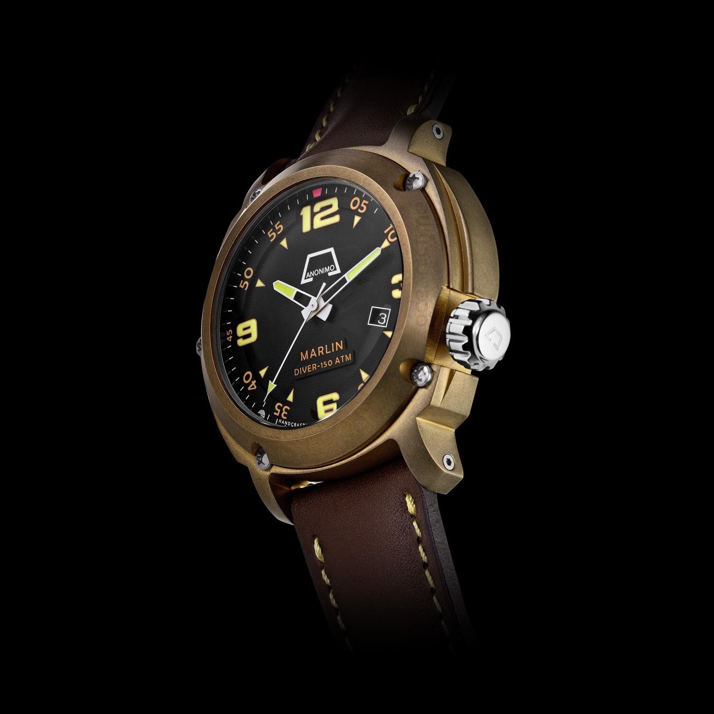 Oceanictime anonimo marlin bronze - Bronze dive watch ...
