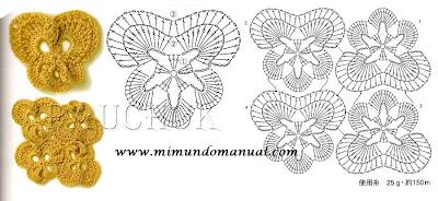 flores tejidas a ganchillo