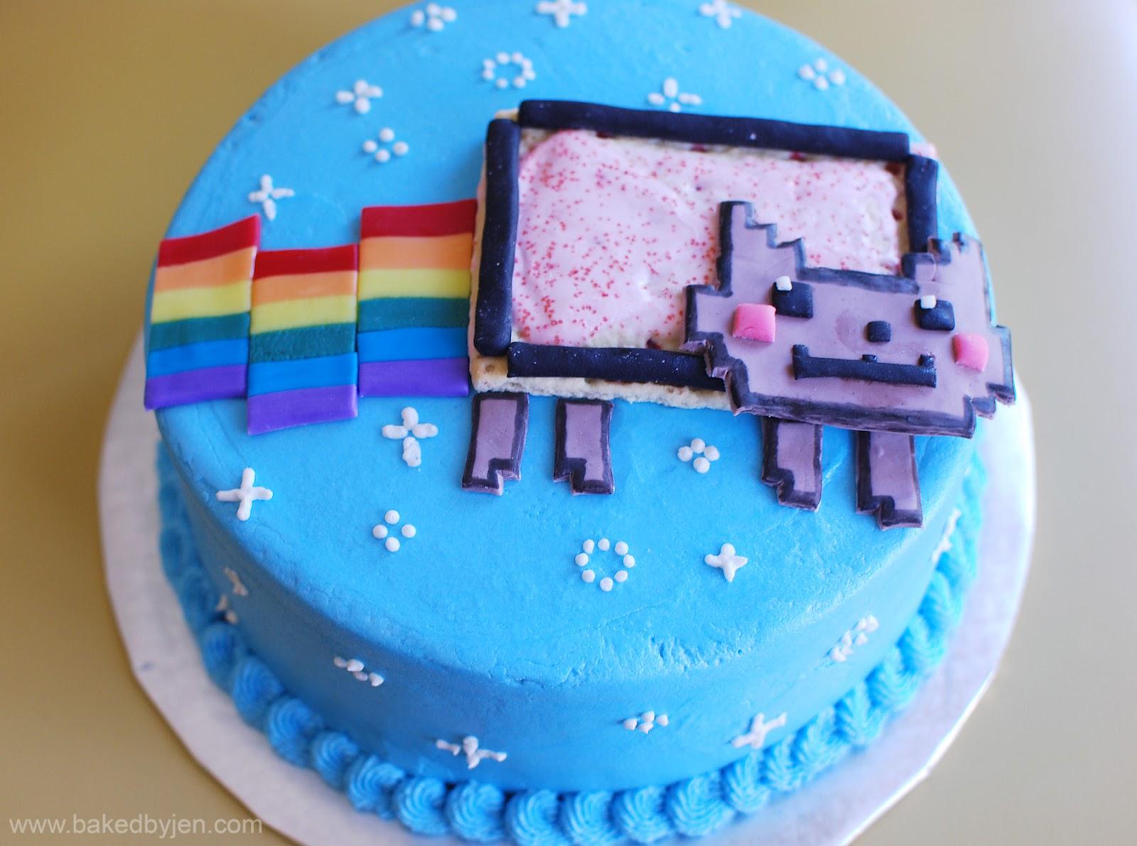 nyan cat cake